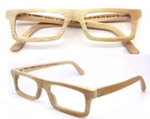 handmade  square  bamboo  eyeglasses  sunglasses 1201 c01 with prescription lenses