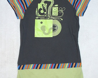 Girls Size 4 Upcycled T-Shirt Dress