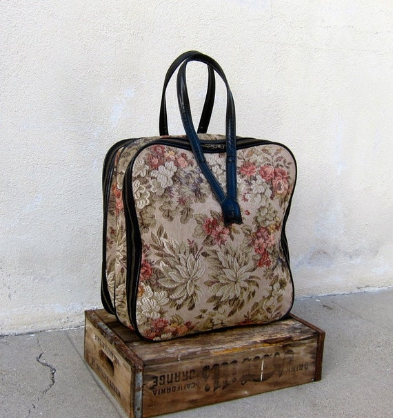 Vintage Large Tapestry Toiletre Travel Vegan Friendly Tote
