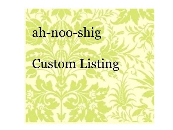 custom listing for motz
