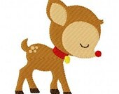 INSTANT DOWNLOAD Christmas Reindeer Machine Embroidery Design