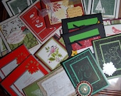 Variety pack - Set of 20 handmade Christmas or holiday cards -