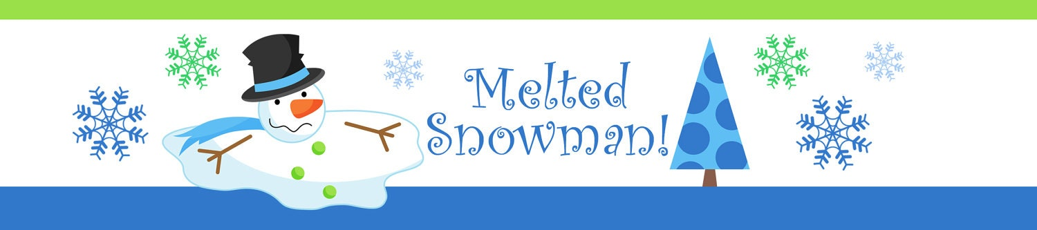 Slobbery image intended for melted snowman water bottle labels free printable