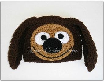 ROWLF THE DOG Muppet Handmade Crochet Hat Beanie