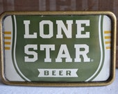 Lone Star Beer Camuflage  Can Belt Buckle