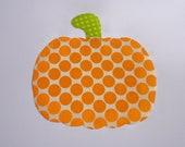 Iron On Applique Large Polka Dot PUMPKIN Halloween Fall Or Harvest