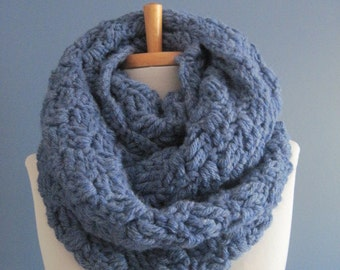 Royal Blue Scarf with buttons, Cowl ,Neckwarmer