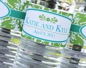 Damask Printable & Customizable Water Bottle Labels