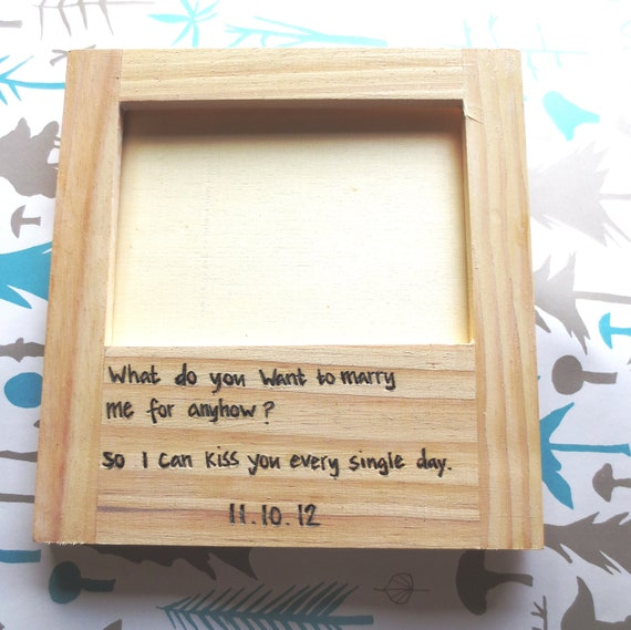 5x7 Quote Frame - Custom engraved wedding frame with a quote of your ...