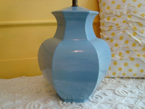 Vintage Wedgewood Blue Ceramic Ginger Jar Lamp