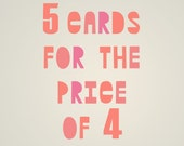 Set of five cards of your choice
