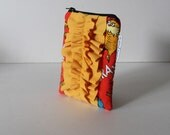small ruffle pouch -- the lorax