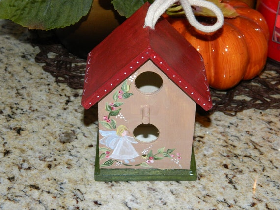 Items Similar To Small Hand Painted Decorative Wood Bird