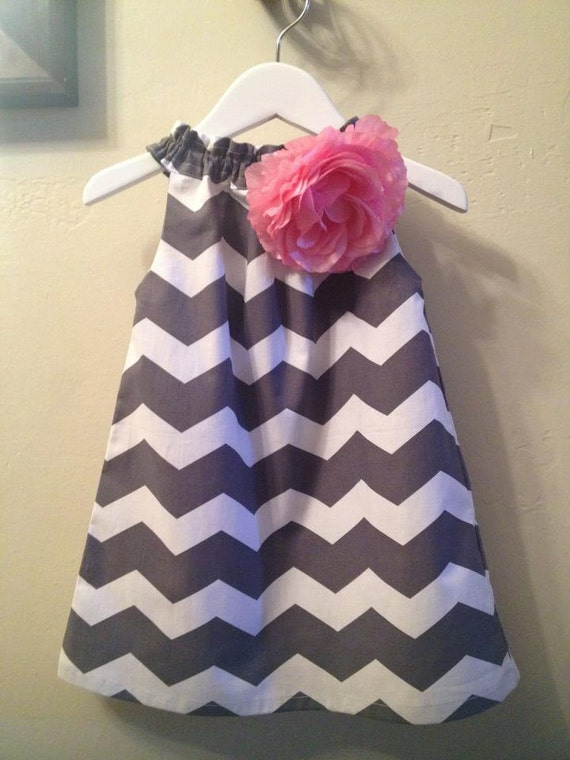 HOLIDAY 2012 Girls Grey Chevron Dress Size 12months-6