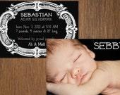 Original baby boy photo birth announcement