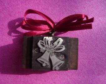 Letterpress Printer's Block - Christmas or Wedding Bells