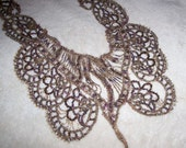 Vintage beaded neckline applique embellishment trim, maybe from 1910s or 1920s