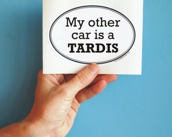 my other car is a tardis sticker