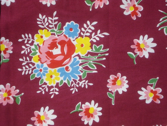 DS Quilts  Denyse Schmidt Sugar Creek Maroon Whimsy Bouquet FQ or more