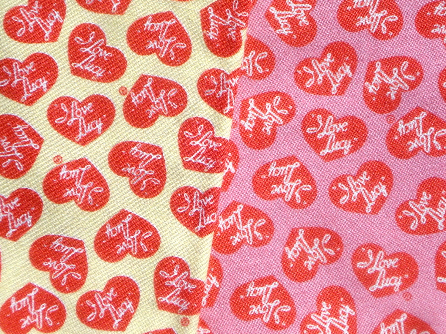 Destash I Love Lucy Quilting Treasures Fabric 2 Fq Set By