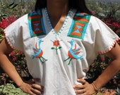 ReSerVEDDo NOT Purchase Frida Fashion Bohemian Birds and Flowers Vintage Mexican Hand Embroidered Folk Art
