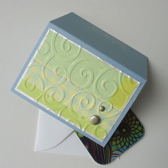 Baby Gift Card Holder: Blank & Handmade - Little Boy Blue