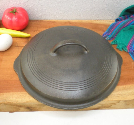 Wagner Ware 1081 Cast Iron Ringed Lid Only - For 1088 Deep Skillet