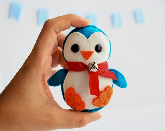 Penguin Christmas Felt Ornament