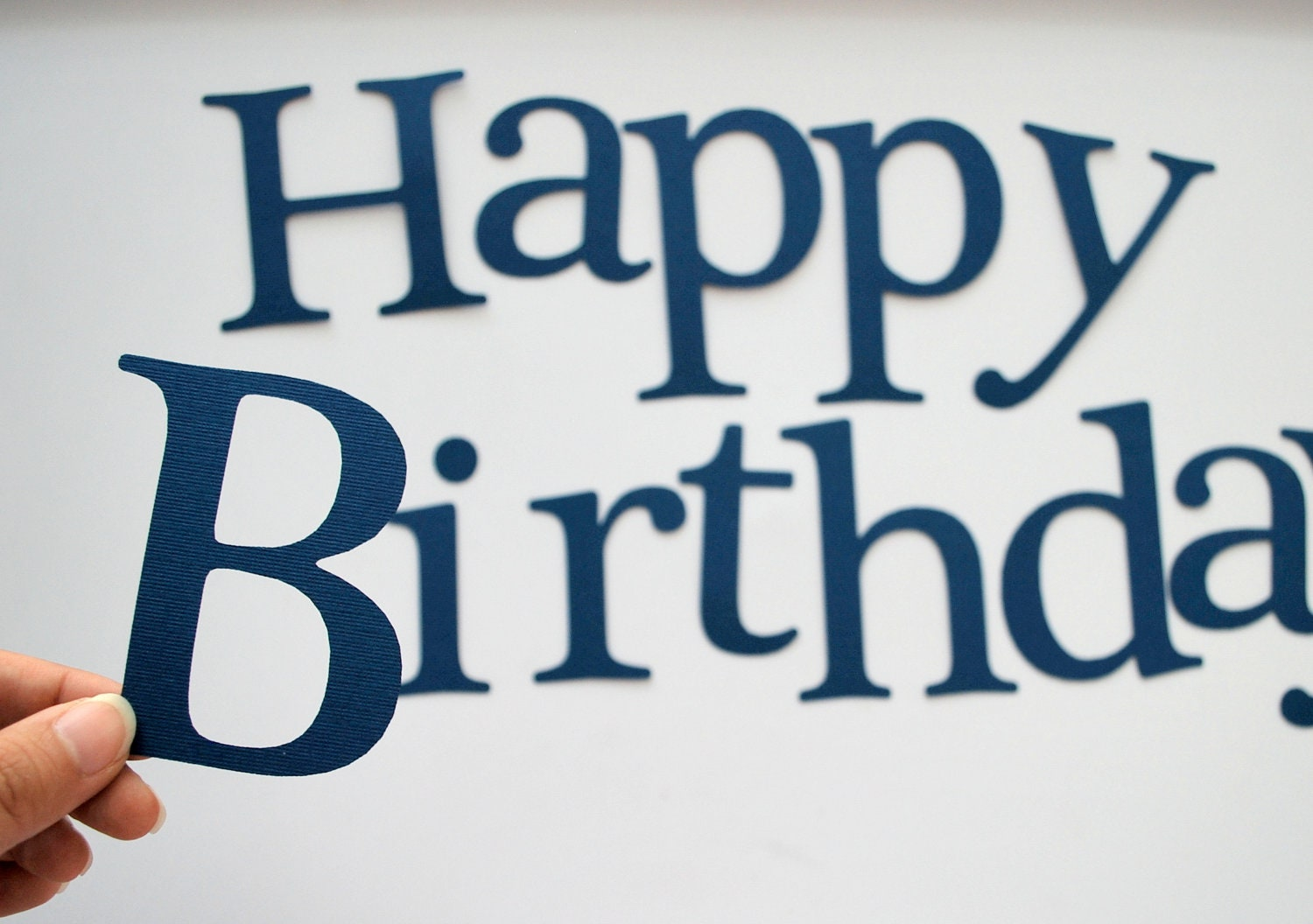 die cut letters happy birthday die cut letters for banner 35 inches tall textured cardstock in navy blue a202