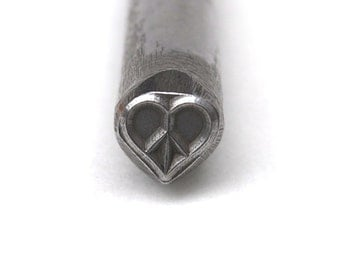 Peace Heart- Metal Stamp LARGE-Exclusive-New 3/8 in.-Metal Stamping Tool-Perfect for Metal Stamping and Metal Work