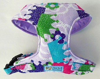 Glitter Crown Comfort Soft Dog Harness. - Made to order-
