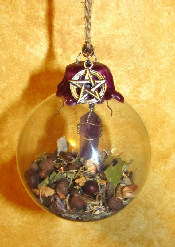 Sage's Witch Ball - Amethyst