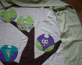 Custom order for an Owl Quilt Queen Size
