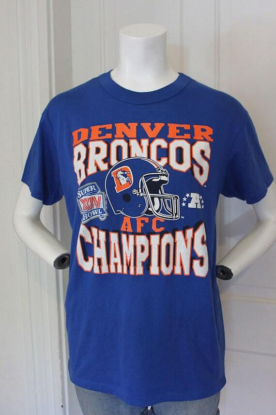 Reserved for jenniferkrowczyk 1990 Denver Broncos Super Bowl XXIV football John Elway quarterback championship NFL t shirt S/M