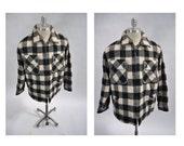 vintage wool jacket banana republic medium coat jacket hunting plaid shadow