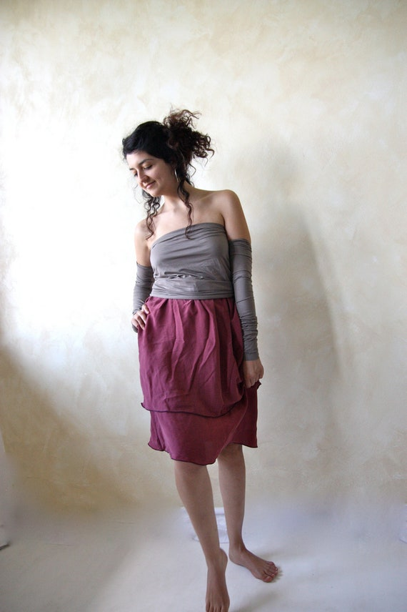 The flower's fairy dress - skirt with arm warmers