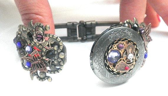 Steampunk Locket Bracelet
