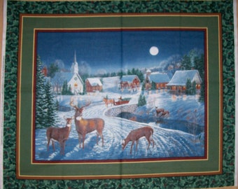 A Gorgeous Wild Wings Winters Eve Fabric Panel Free US Shipping