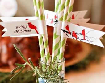 Christmas Cardinal Printable Gift Wrap Set
