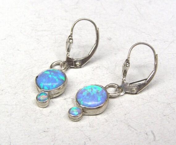 Opal chandelier  Opal silver earrings Opal dangle earrings