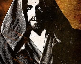 Obi-wan Kenobi Star Wars Pop Art Print 8 x 10