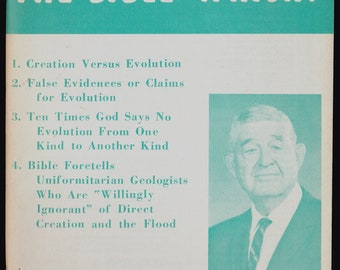 1963 EVOLUTION or the BIBLE vintage Evangelical Booklet by John R.Rice D. D. Litt. D. Creation