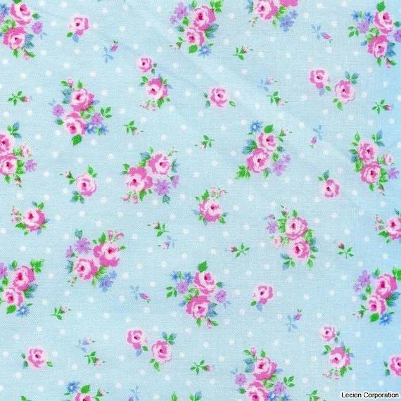 NEW 2012 Lecien Flower Sugar Light Blue Tiny Florals fabric 30519-70  -- 1 yard, in stock