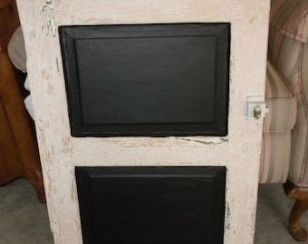 Vintage White Cabinet Door Chalkboard 2 Available