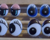 Lot of 40 pairs mixed cartoon safety doll eyes for dollmaking or doll repair
