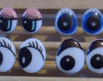 Lot of 40 pairs cartoon safety doll eyes for dollmaking or doll repair