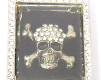 Large rehinstone  amazing Skull Pendant