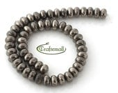 Pyrite 8x12mm smooth rondelle - set of 25 beads (half strand)