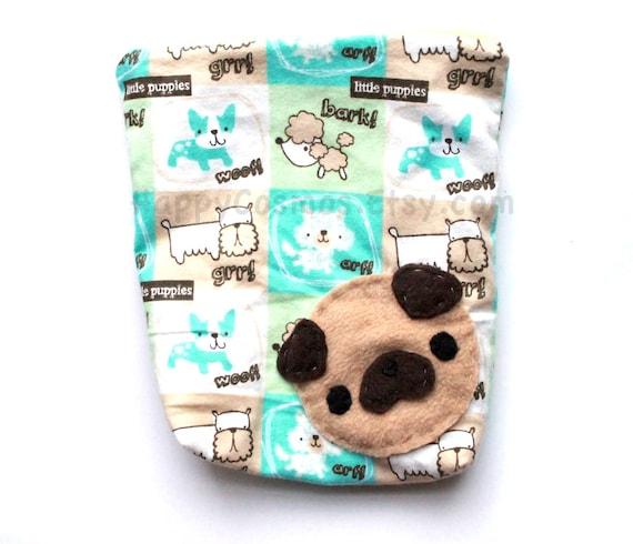 Pug Zipper Pouch - Zippered Pouch , Dog Pouch , Kawaii , Cute