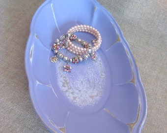 Summer Sale French Lilac Vanity Tray / Trinket Dish / Upcycled Tray in French Lilac